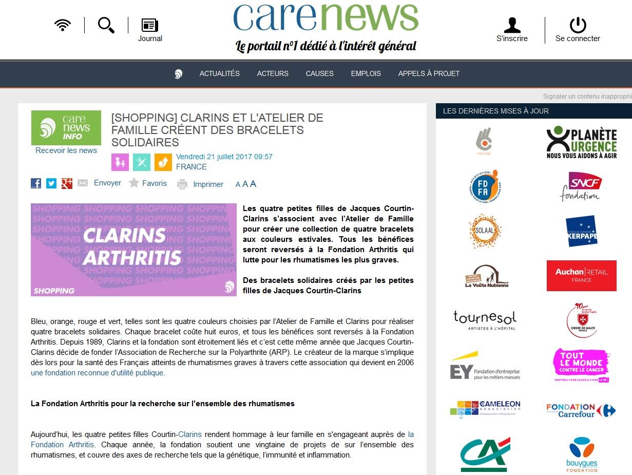 Arthritis sur le site carenews
